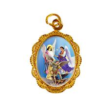 Medalha de Alumínio - Arcanjos - Mod. 01 Dourado