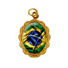 Imagem - Medalha de Alumínio Bandeira Brasil - Modelo 1 cód: 18000115-19