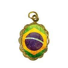 Imagem - Medalha de Alumínio Bandeira Brasil - Modelo 2 cód: 10422708