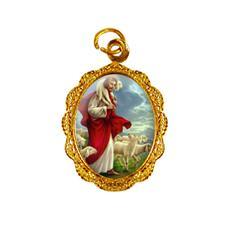 Medalha de alumínio - Bom Pastor