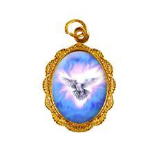 Medalha de Alumínio - Divino Espírito Santo Dourado