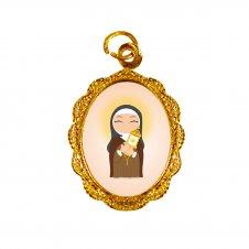 Imagem - Medalha de Alumínio Santa Clara Infantil cód: MASCID