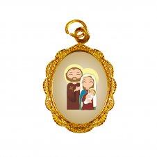 Imagem - Medalha de Alumínio Sagrada Família Infantil cód: MASFID