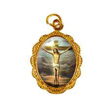 Imagem - Medalha de Alumínio - Jesus Crucificado cód: 14302648-19