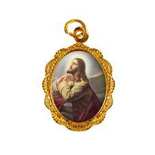 Medalha de alumínio - Jesus Orando