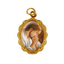 Imagem - Medalha de alumínio - Jesus Orando - Mod. 2 cód: 19480664-19
