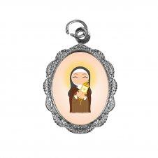 Imagem - Medalha de Alumínio Santa Clara Infantil cód: MASCIN