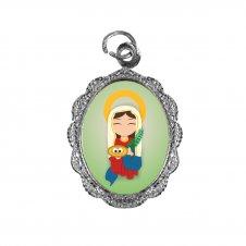 Imagem - Medalha de Alumínio Santa Luzia Infantil cód: MASLIN