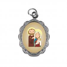 Imagem - Medalha de Alumínio Sagrada Família Infantil cód: MASFIN
