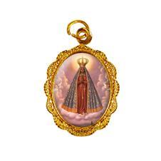 Imagem - Medalha de alumínio - Nossa Senhora Aparecida - Mod. 1 - MAAP-02