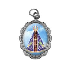 Medalha de alumínio - Nossa Senhora Aparecida - Mod. 3 Níquel