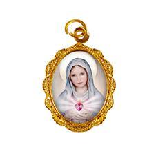 Imagem - Medalha de alumínio - Nossa Senhora da Chama de Amor - MACA-02