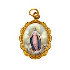 Imagem - Medalha de alumínio - Nossa Senhora da Assunção - Mod. 1 cód: MAAS-02