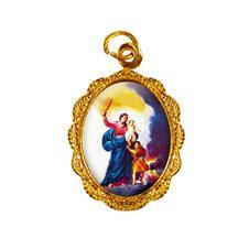 Imagem - Medalha de alumínio - Nossa Senhora da Defesa cód: MADF-01