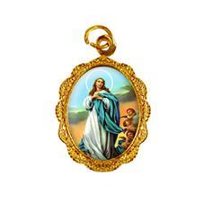 Imagem - Medalha de Alumínio - Nossa Senhora da Imaculada Conceição - Mod. 01 cód: 13939916-19
