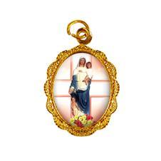 Imagem - Medalha de alumínio - Nossa Senhora da Saúde cód: 19855580-19