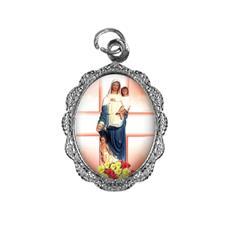 Imagem - Medalha de alumínio - Nossa Senhora da Saúde cód: 19855580-20
