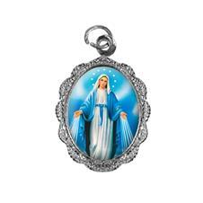 Medalha de Alumínio - Nossa Senhora das Graças - Mod. 2 Níquel