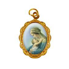Imagem - Medalha de alumínio - Nossa Senhora do Abraço cód: MAABC-02