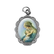 Imagem - Medalha de alumínio - Nossa Senhora do Abraço cód: MAABC-01