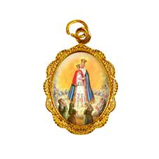 Medalha de alumínio - Nossa Senhora do Bom Parto Dourado