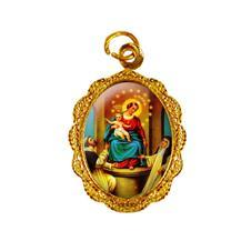 Medalha de alumínio - Nossa Senhora do Rosário Dourado