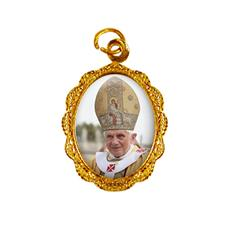 Imagem - Medalha de Alumínio - Papa Bento XVI - Mod. 2 cód: 14059583-19