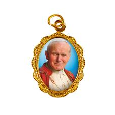 Medalha de Alumínio - Papa João Paulo II - Modelo 02 Dourado