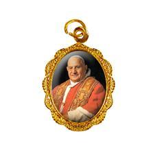 Medalha de Alumínio - Papa João XXIII - Mod. 01 Dourado