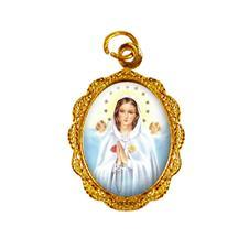 Imagem - Medalha de Alumínio - Nossa Senhora Rosa Mística cód: 12499271-19