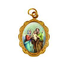 Medalha de Alumínio - Sagrada Família -  Mod. 01 Dourado