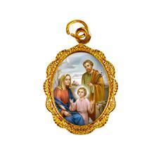 Imagem - Medalha de Alumínio - Sagrada Família - Mod. 02 cód: 14818979-19