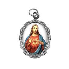 Imagem - Medalha de alumínio - Sagrado Coração de Jesus - Mod. 01 - 17727457-20