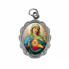 Medalha de Alumínio - Sagrado Coração de Maria - Modelo 03