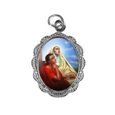 Medalha de alumínio - Santa Mônica e Santo Agostinho
