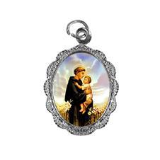 Medalha de Alumínio - Santo Antonio - Mod. 05 Níquel