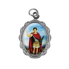 Medalha de Alumínio - Santo Expedito - Mod. 2 Níquel