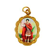 Medalha de Alumínio - Santo Expedito - Mod. 1 Dourado