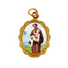 Imagem - Medalha de alumínio - São Benedito - Mod. 1  - 13910225-19