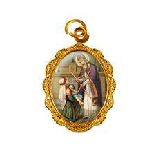 Medalha de Alumínio - São Brás Dourado