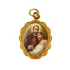 Imagem - Medalha de alumínio - São Camilo de Lellis cód: 14606133-19