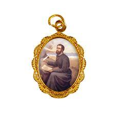 Medalha de alumínio - São Francisco Xavier Dourado