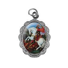 Medalha de alumínio - São Jorge Níquel