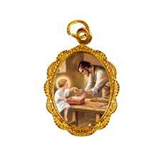Imagem - Medalha de Alumínio - São José do Operário - Mod. 2 cód: 17509638-19