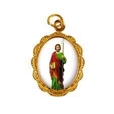 Medalha de Alumínio - São Judas Tadeu - Mod. 03 Dourado