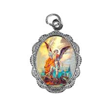 Medalha de alumínio - São Miguel Arcanjo - Mod. 1 Níquel