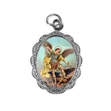 Medalha de alumínio - São Miguel Arcanjo - Mod. 2 Níquel