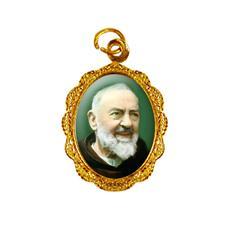 Imagem - Medalha de Alumínio - São Padre Pio - 10832311-19