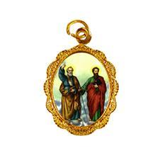 Imagem - Medalha de alumínio - São Pedro e São Paulo cód: 18751171-19