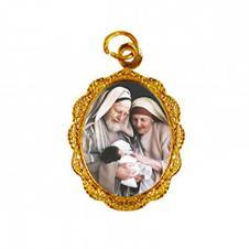 Imagem - Medalha de Alumínio - São Zacarias e Santa Isabel cód: 11598218-19